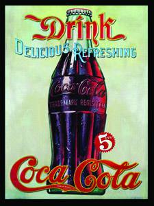 Placa Decorativa Vintage Coca Cola Drink PDV373