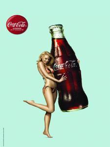 Placas Decorativas Coca Cola Girl PDV376