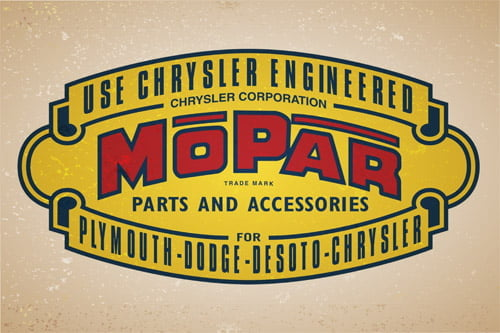 Placa Decorativa Vintage Carros Mopar Parts PDV221