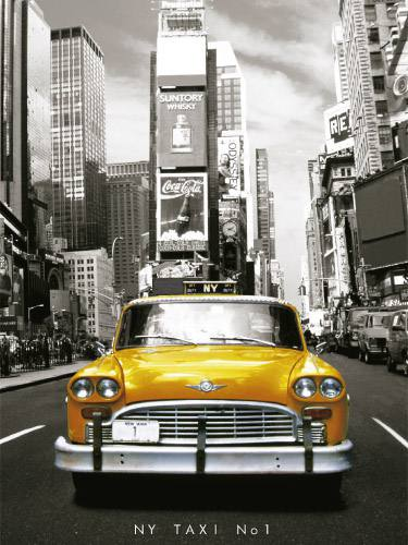 Placa Decorativa Vintage Carros Taxi New York PDV208