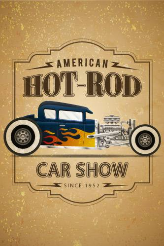 Placa Decorativa Vintage Carros American Hot Rod PDV219