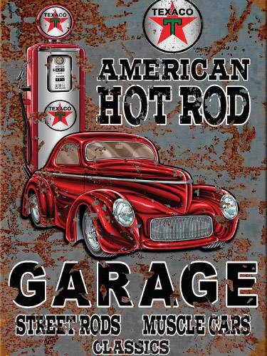 Placa Decorativa Vintage Carros American Hot Rod PDV184