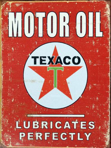 Placa Decorativa Vintage Carros Motor Oil Texaco PDV225