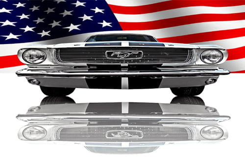 Placa Decorativa Vintage Carros Mustang USA PDV209