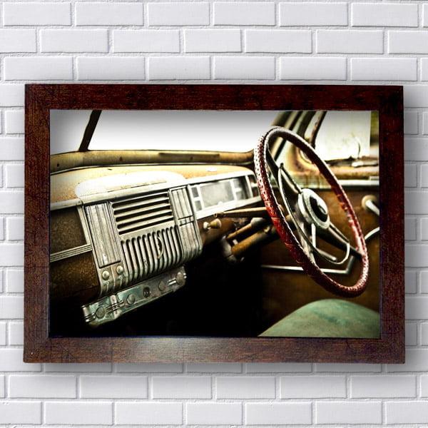 Quadros Vintage Interior Carro Antigo Retro