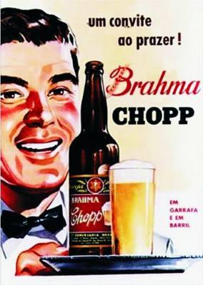 Placa Decorativa Brahma Chopp Um convite ao prazer PDV026