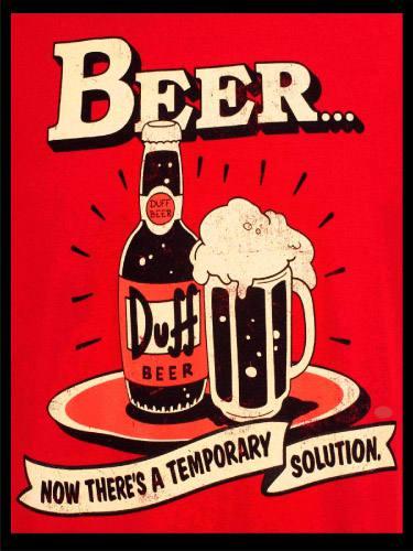 Placa Decorativa Retro Cerveja Duff Beer PDV014
