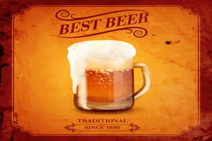 Placas Decorativas Cerveja Best Beer Traditional PDV338