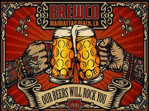 Placas Decorativas Cerveja Brewco Beer PDV352