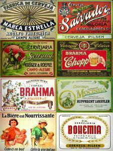 Placas Decorativas Cerveja Rotulos Nacionais Retro PDV329