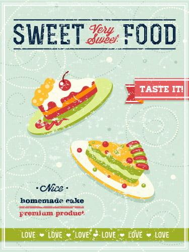 Placa Decorativa Vintage Retro Sweet Food PDV088