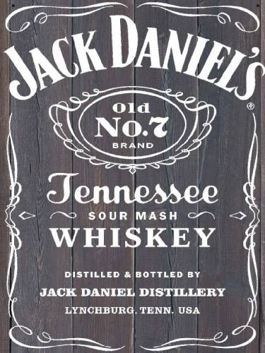 Placa Decorativa Vintage Retro Jack Daniels Old PDV110