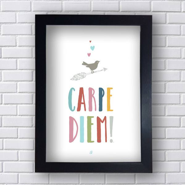 Placa Decorativa Carpe Diem