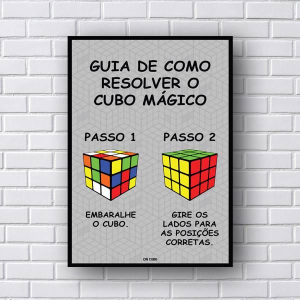 Quadro Com Frases Guia Cubo Magico