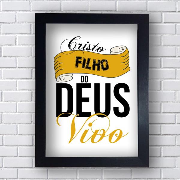 Quadro Decorativo Cristo Filho do Deus Vivo