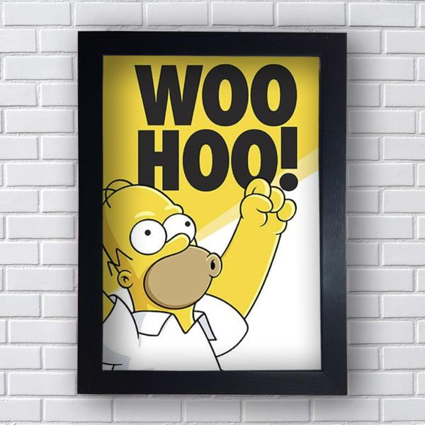Quadro Placas Decorativas Woo Hoo!