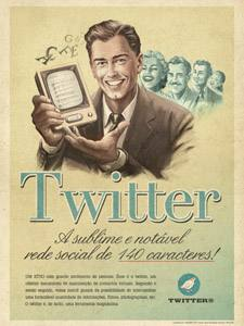 Placa Decorativa Vintage Twitter Retro PDV415
