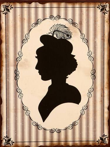Placa Decorativa Vintage Retro Mulher Woman WC PDV138