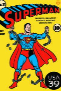 Placas Decorativas Super Man Comic Retro PDV411