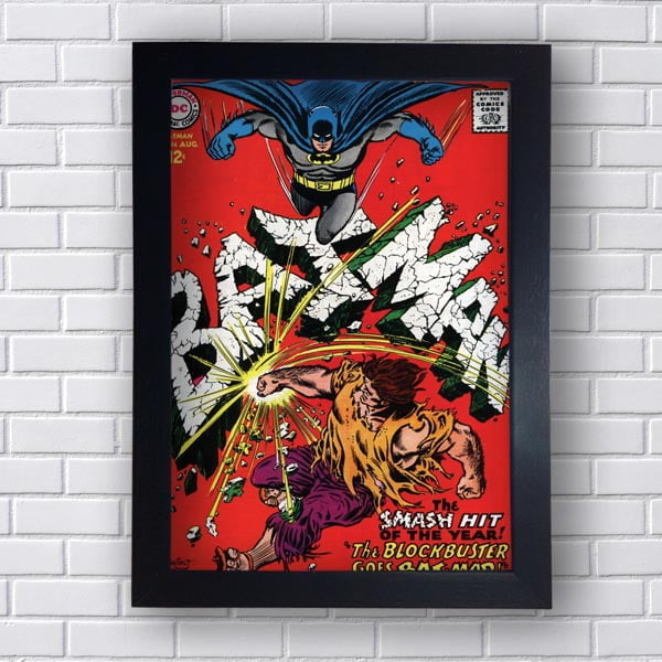 Quadro Decorativo Batman Smash