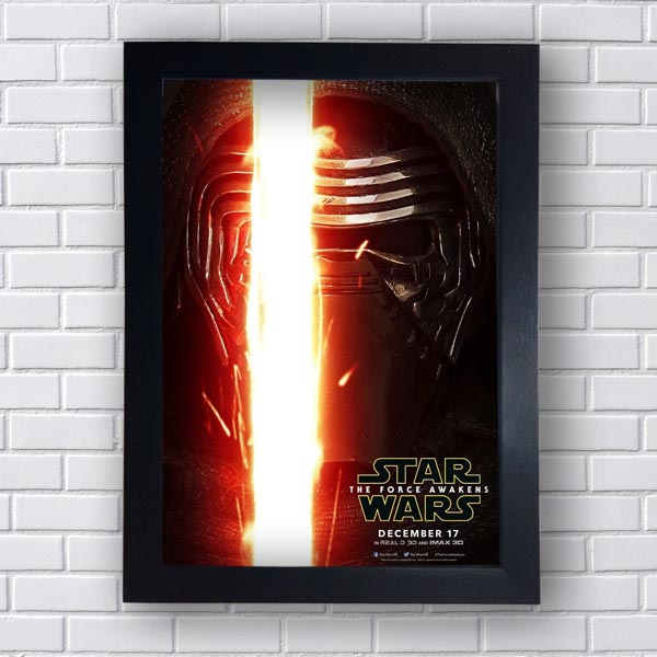 Quadro Decorativo Star Wars Kylo Ren