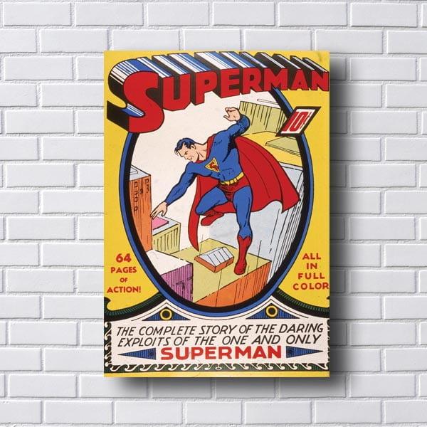 Quadro Decorativo Superman Story