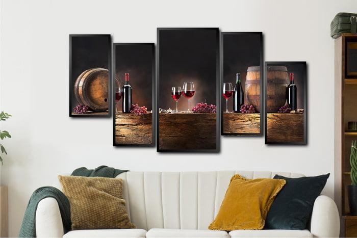 Quadros Para Cozinha Decorativos Conjunto Vinho