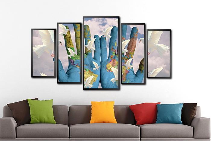 Conjunto Quadros Aves