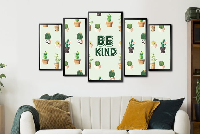 Conjunto Quadros Be Kind