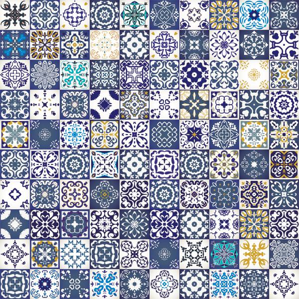 Papel de Parede Azulejo Portugues