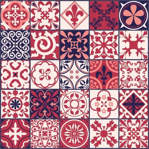 Adesivos Azulejos HIdraulico Vermelho