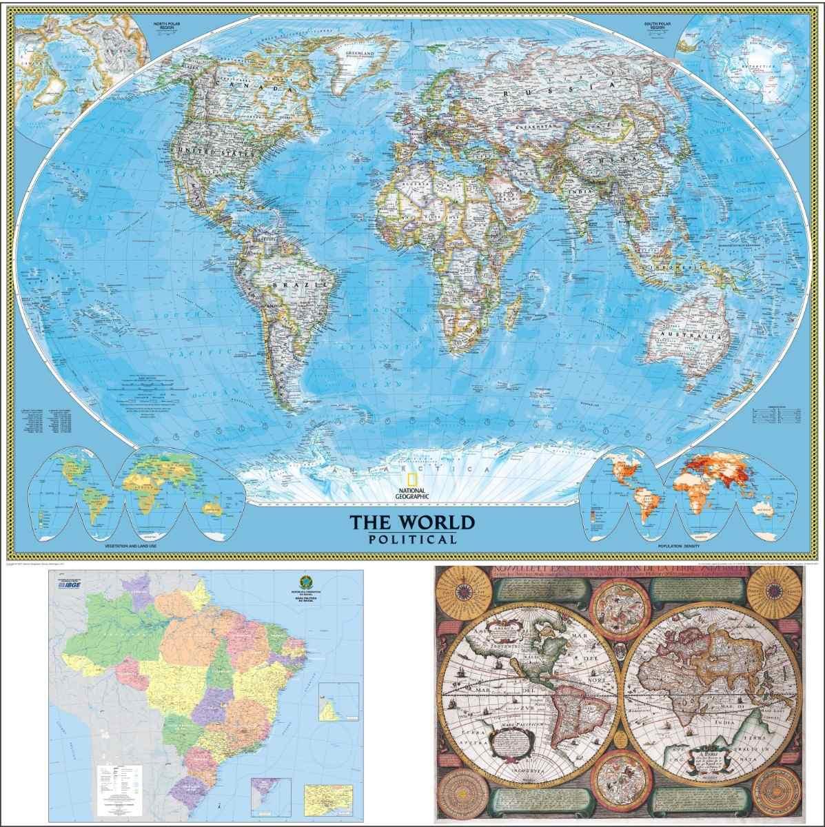 Adesivo de Parede Mapa do Brasil