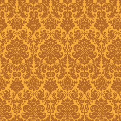 Papel de Parede Arabesco Dourado Classico