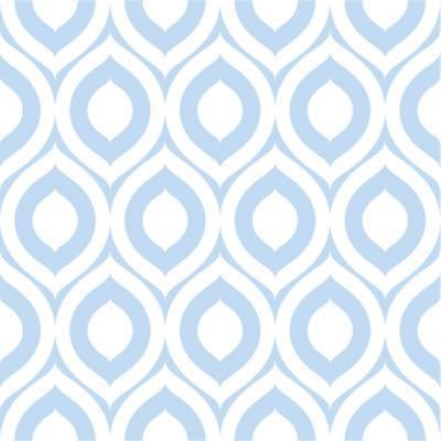 Papel de Parede Geometrico formas ovais azul