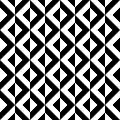Papel de Parede Losango Preto e Branco Geometricos