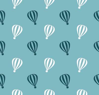 Papel de Parede Quarto Infantil Balão Azul