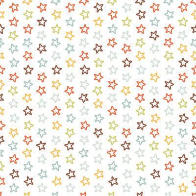 Papel de Parede Estrelinhas Coloridas quarto de criança