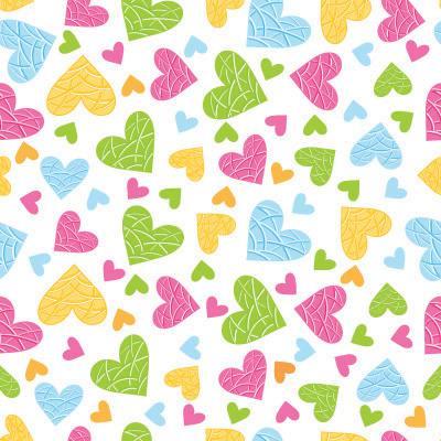 Papel de Parede para quarto feminino meninas corações