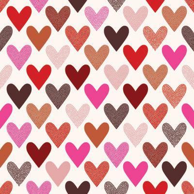 Papel de Parede Corações para quarto feminino meninas