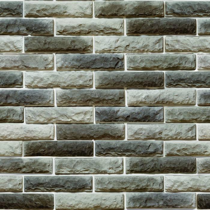 Papel de Parede Tijolo Cinza Pedras Adesivo Autocolante PD02
