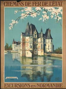 Placa Decorativa Normandie Cartão Postal PDV538