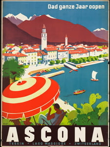 Placa Decorativa Cartão Postal Ascona PDV548