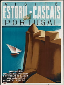 Placa Decorativa Portugal Estoril Cartão Postal PDV566