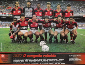 Placa Decorativa Flamengo 1987 PDV454
