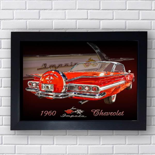 Quadro Opala Vermelho 1960