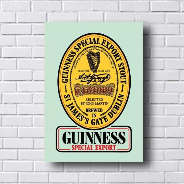 Quadro Decorativo Guinness Special Export