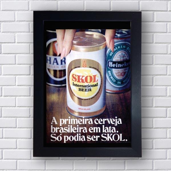 Quadro Skol International Beer