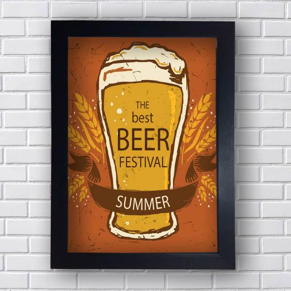 Quadro Vintage Beer Festival Summer