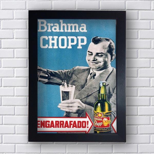 Quadro Vintage  Brahma Chopp Engarrafado