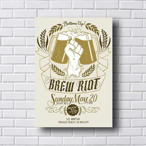 Quadro Vintage Brew Riot